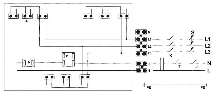 Схема подключения двухфазного
